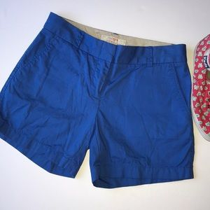 J. Crew Bright Indigo Chino Shorts